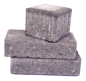 Paver bricks isolated