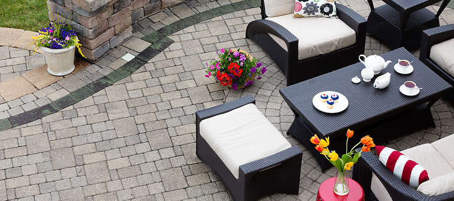 Beautiful High End Paver Patio Built and Installed by Twin Oaks Landscape in Ann Arbor MI